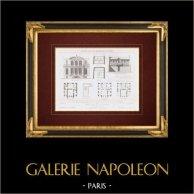 Architect's Drawing - House - Hotel - Avenue de Saint-Cloud - Paris (Félix Pigeory)