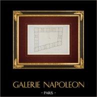 Architect's Drawing - Caserne du Prince-Eugène - Place de la République - Paris (France)