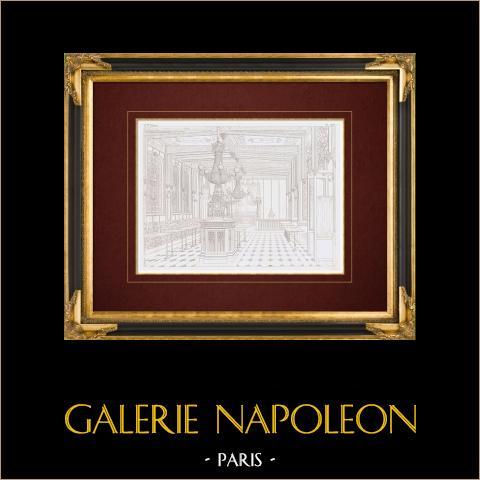 Dessin d'Architecte - Café-Chantant - Musard - Café-Concert des Champs-Élysées - Paris (France) | Gravure originale en taille-douce sur acier. Anonyme. 1859