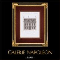 Ritning av Arkitekt - Fransk Renässansstil hus - Rue Vaneau - Paris