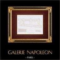 Dibujo de Arquitecto - Palacio del Louvre - Rue de Rivoli (Louis Visconti y Hector-Martin Lefuel)