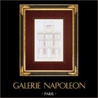 Architektenzeichnung - Louvre-Palast - Rue de Rivoli - Pavillon de Rohan - Paris