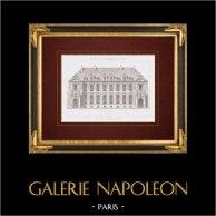 Architect's Drawing - House - Hotel - Rue de Berry - Paris (M. Labrouste)