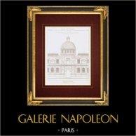 Architektenzeichnung - Tuilerien Palasts - XVI. Jahrhundert - Katharina von Medici (Philibert Delorme)