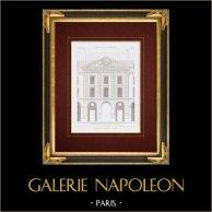 Architektenzeichnung - Caserne du Prince-Eugène - Place de la République - Paris (Frankreich)