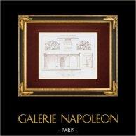 Desenho de Arquitecto - Caserne du Prince-Eugène - Vestíbulo - Place de la République - Paris (França)