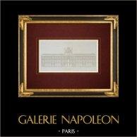 Architektenzeichnung - Louvre-Palast - Paris - Cour Carrée - Pavillon de l'Horloge (Pierre Lescot - Jacques Lemercier)