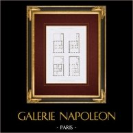 Architektenzeichnung - Haus - Rue Trudon - Paris (Charles Duval)