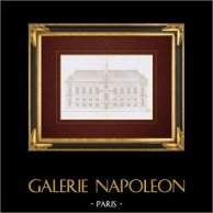 Architect's Drawing - Bibliothèque impériale - 2nd Arrondissement of Paris - Hotel Tubeuf (M. Le Muet)