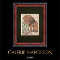 Political Cartoon - 1877 - Lion - Une Bonne Histoire !