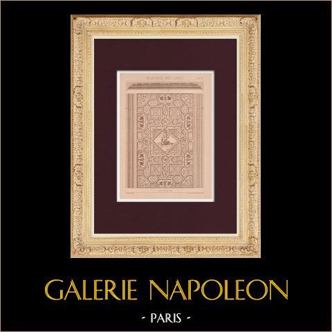 Plafond - Néo-Grec | Impression originale dessinée par Claudius Trenet. 1920