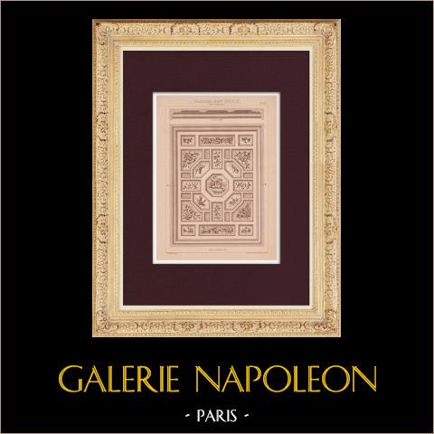 Plafond - 19ème Siècle - XIXème Siècle | Impression originale dessinée par Claudius Trenet. 1920