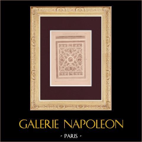 Plafond - Louis XV | Impression originale dessinée par Claudius Trenet. 1920