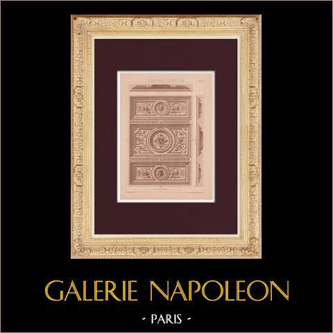 Plafond - Louis XIV | Impression originale dessinée par Claudius Trenet. 1920