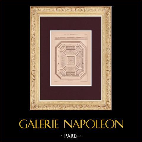 Plafond - Mauresque | Impression originale dessinée par Claudius Trenet. 1920