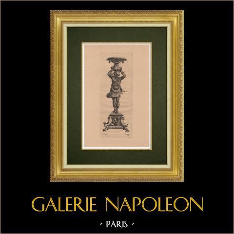 Sztuka Dekoracyjna - Świecznik (Le Pautre) |