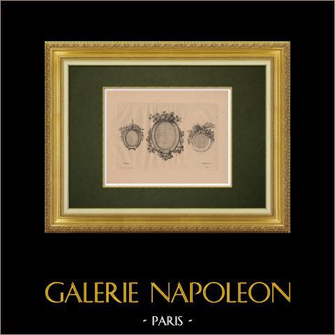 Dekorative Kunst - Verzierung (Ranson) | Original ätzradierung auf bister papier gestochen von Pequegnot nach Ranson. 1860