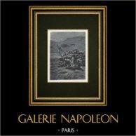 Iliade - Omero - Canto X - Ulisse e Diomede catturano Dolone | Heliogravure originale secondo Henri Motte. 1880
