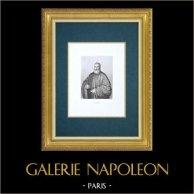 Galerie Palatine - Florence - Portrait du procureur Antonio Cappello (Le Tintoret) | Gravure à l'eau-forte originale gravée par Errani d'après Le Tintoret. 1842