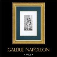 Galerie Palatine - Florence - Portrait de Philippe II roi d'Espagne (Le Titien)   Gravure à l'eau-forte originale gravée par Lasinio fils d'après Le Titien. 1842