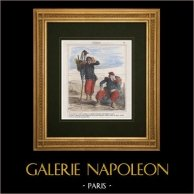Caricature - French Army - Napoleon III - Colonialism - French conquest of Algeria - They make us run these Arabs