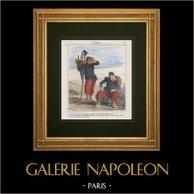 Caricatura - Ejército Francés - Napoleón III - Colonialismo - Conquista de Argelia por Francia - Nos hacen ejecutar estos árabes