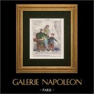 Caricatura - Ejército Francés - Napoleón III - Patriotismo - Propaganda - Traducido la encíclica