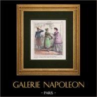 Caricatura - Ejército Francés - Napoleón III - Segunda intervención francesa en México - Es un soldado que regresa de México