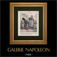 Caricature - French Army - Napoleon III - Sapper - I beg you, my belt, these things are sacred
