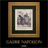 Caricatura - Ejército Francés - Napoleón III - Zapador - Te lo ruego, mi cinturón, estas cosas son sagradas