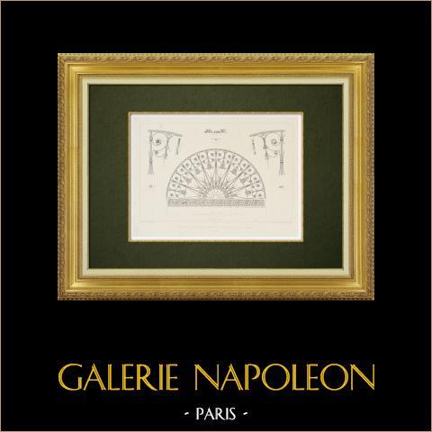 Vista de París - Un hotel rue Saint-Paul - Puerta | Grabado original en talla dulce sobre acero dibujado por Parmentier, grabado por Soudain. 1863