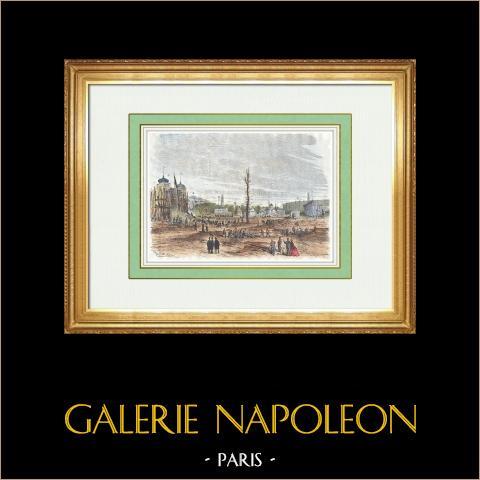 Bouw van de Bardo - Paleis van Bey van Tunis op de Champ-de-mars - Wereldtentoonstelling Parijs 1867 |