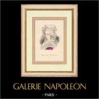 Gala hairdressing - 1788 - Portrait of Marie-Antoinette (France)
