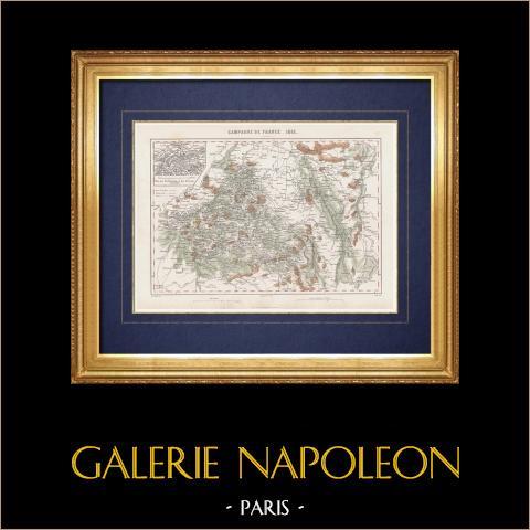 Geografia Wojskowa - Mapa - Kampania Francji - 1814 r |