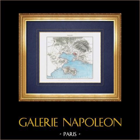 Geografia Wojskowa - Mapa - Miasto Toulon - var - Francja |