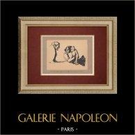 Caricature - Jacques Ochs - Mon Mari s'est Fait Soigner par Voronoff avant la Naissance du Petit
