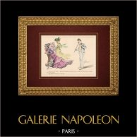 Humorous Caricature - Eroticism - Adultery - Un Roquet lui a Mangé son Fond de Culotte ...
