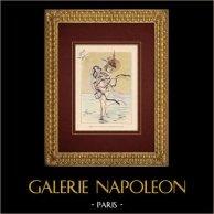 Humorous Caricature - Eroticism - Adultery - Béguinette Lance un Nouveau Costume de Bains de Mer