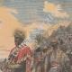 DÉTAILS 03 | Peinture - Menelik II à la bataille d'Adoua - Ethiopie - Paul Buffet - Salon de 1898