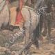 DÉTAILS 04 | Peinture - Menelik II à la bataille d'Adoua - Ethiopie - Paul Buffet - Salon de 1898