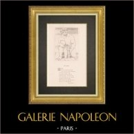 Gudomliga komedin - Dante - Helvete - Canto XXXI - Giganter | Original kopparstick graverade av Flaxman. 1867