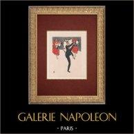 Moulin Rouge - Cabaret a Parigi - Montmartre - Années Folles - Quadriglia - Jim et les Quadrilleuses