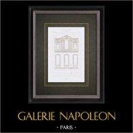 Dessin d'Architecte - Palais du Louvre - Grande Galerie - XVIème Siècle - Paris (France)