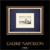 Vista de Paris - Torre - Tour et porte de Nesle en 1635 (Francia)