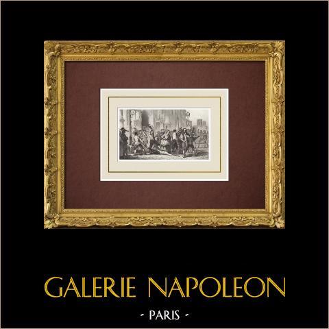 Franse Revolutie - Dood van Foulon op de Place de Grève (1789) |