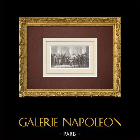 Franse Revolutie - Bailly, Burgemeester van Parijs, Gaat Naar Notre-dame (1789) |