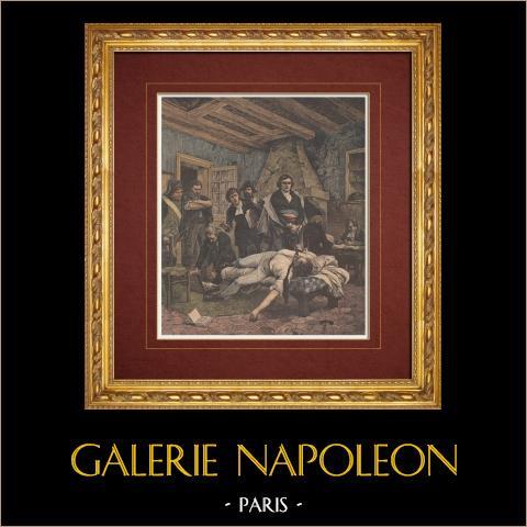 Schilderij - de Dood van Pichegru (Georges Moreau de Tours) |