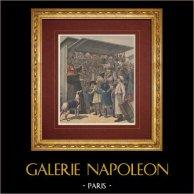 Año Nuevo en Paris - Mercaderes de los Grandes Bulevares - Siglo 19