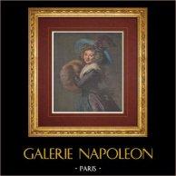 Peinture française - La Femme au manchon (Élisabeth Vigée Le Brun)