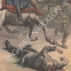 DÉTAILS 06   Emeutes en Allemagne - La Cavalerie - Guillaume II d'Allemagne - 19ème Siècle